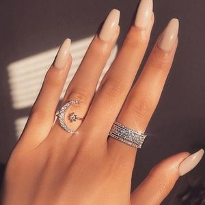 Jewelry - Bohemian Style Moon & Star Ring